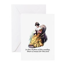 Knitting - Music for the Soul Greeting Cards (Pack