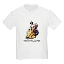 Knitting - Music for the Soul Kids T-Shirt