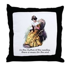 Knitting - Music for the Soul Throw Pillow