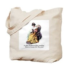 Knitting - Music for the Soul Tote Bag