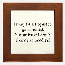 Knitting - Don't Share Needles Framed Tile