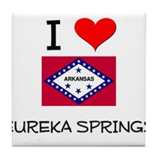 I Love EUREKA SPRINGS Arkansas Tile Coaster