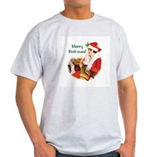 Merry Knit-mas Ash Grey T-Shirt