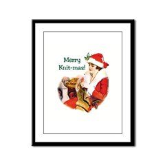 Merry Knit-mas Framed Panel Print