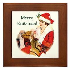Merry Knit-mas Framed Tile