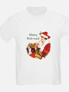 Merry Knit-mas Kids T-Shirt