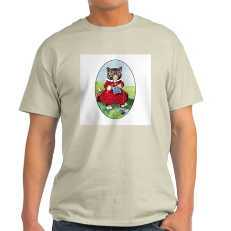 Knittting Kitty Ash Grey T-Shirt