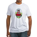 Knittting Kitty Fitted T-Shirt