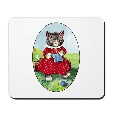 Knittting Kitty Mousepad