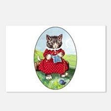 Knittting Kitty Postcards (Package of 8)