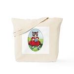 Knittting Kitty Tote Bag