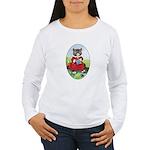 Knittting Kitty Women's Long Sleeve T-Shirt