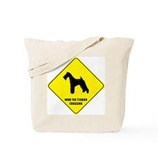 Wire Fox Crossing Tote Bag