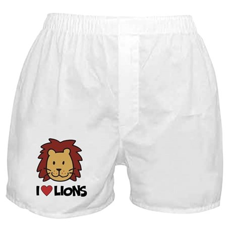 I Love Lions Boxer Shorts