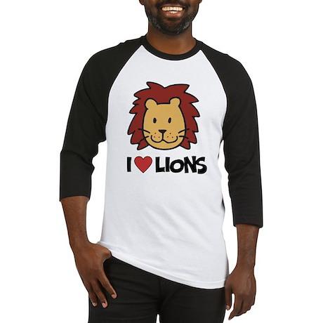 I Love Lions Baseball Jersey