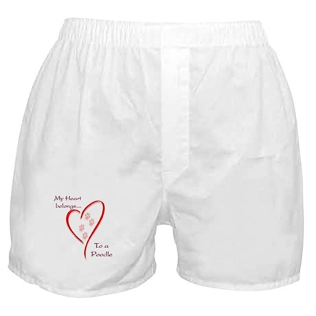 Poodle Heart Belongs Boxer Shorts