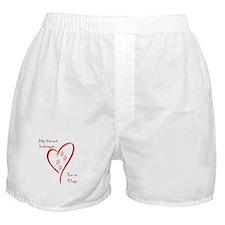 Pug Heart Belongs Boxer Shorts