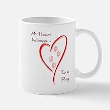 Pug Heart Belongs Mug