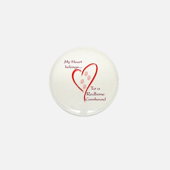 Redbone Heart Belongs Mini Button