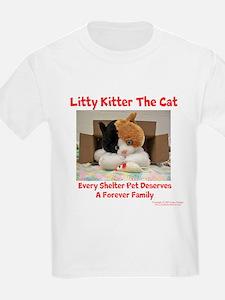 Litty Kitter - Shelter Pet Kids T-Shirt