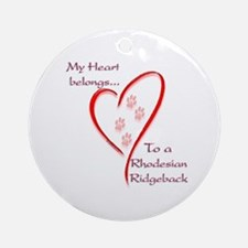 Ridgeback Heart Belongs Ornament (Round)
