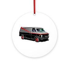 Retro Van. Ornament (Round)