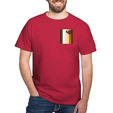 BEAR PRIDE FLAG VERTICALpkt DARK T-Shirt