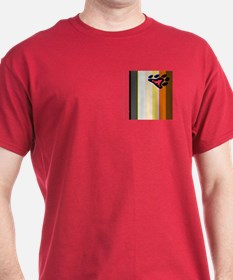 BEAR PRIDE FLAG VERTICALpkt DARK T-Shirt