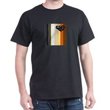 VERTICAL BEAR FLAG VARIATION Black T-Shirt