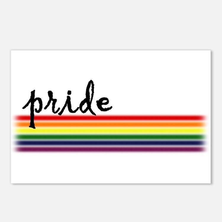 Pride Rainbow Postcards (Package of 8)