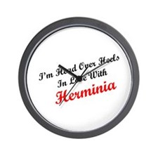 In Love with Herminia Wall Clock