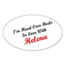In Love with Helena Oval Decal
