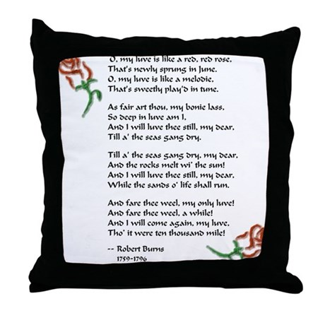 Red, Red Rose Throw Pillow