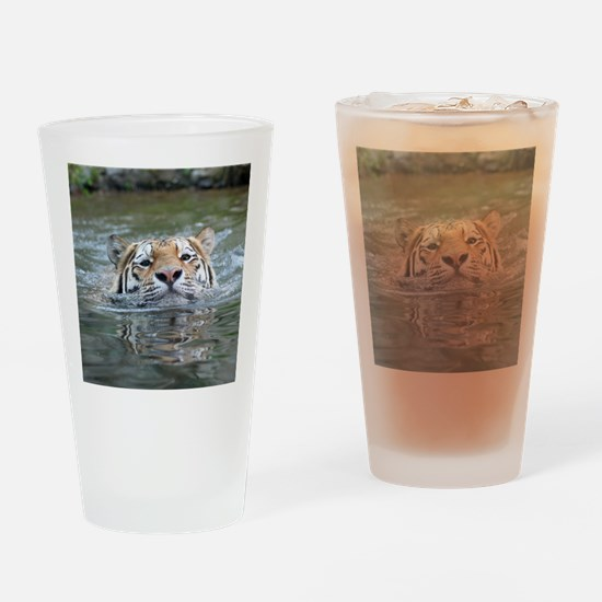 Tiger005 Drinking Glass
