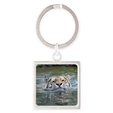 Tiger005 Square Keychain