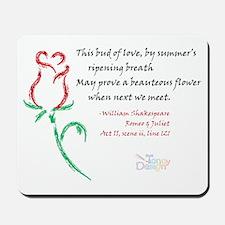 Budding Love Mousepad