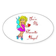 FAVORITE ANGEL Oval Decal