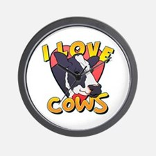 I Love Cows Portrait Wall Clock
