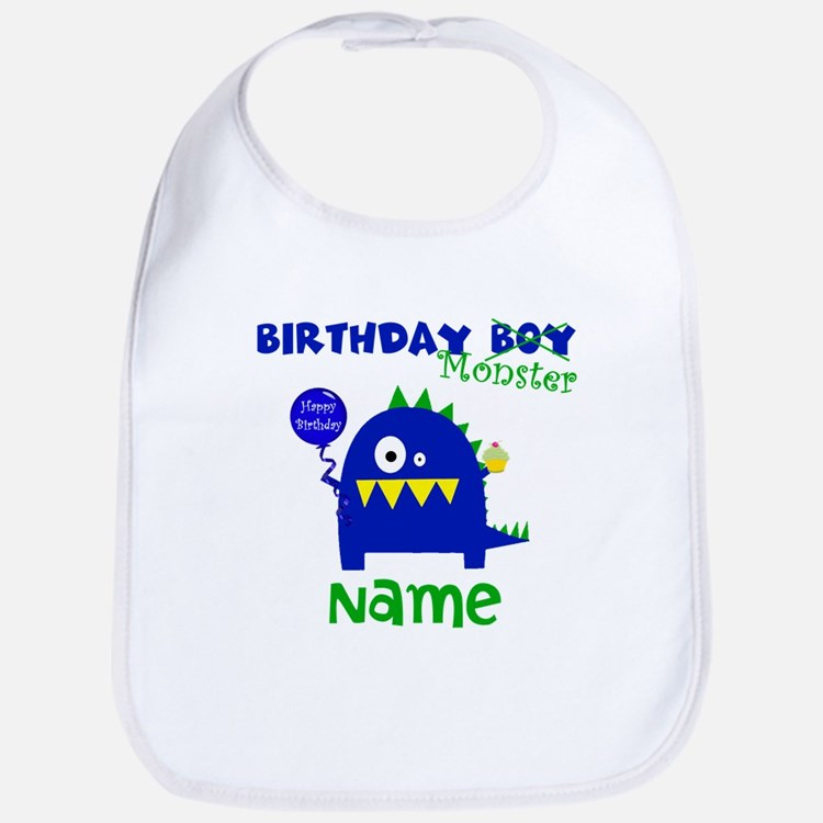 Birthday Boy Monster Bib