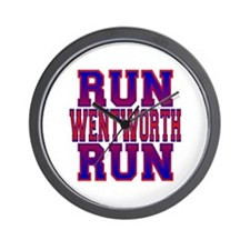 Run Wentworth Run Wall Clock