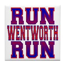 Run Wentworth Run Tile Coaster
