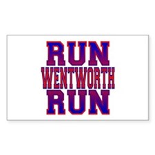 Run Wentworth Run Rectangle Decal