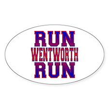 Run Wentworth Run Oval Decal
