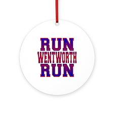Run Wentworth Run Ornament (Round)