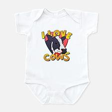 I Love Cows Portrait Infant Bodysuit