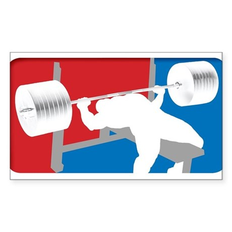 VINTAGE BENCH PRESS Rectangle Sticker