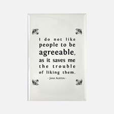 Agreeable People Rectangle Magnet