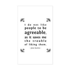 Agreeable People Rectangle Decal
