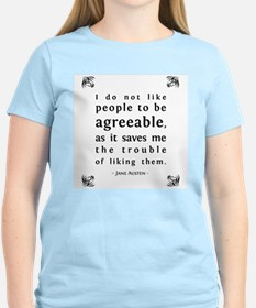 Agreeable People Women's Pink T-Shirt