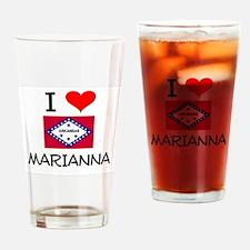 I Love MARIANNA Arkansas Drinking Glass